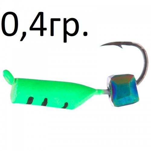 Столбик зеленый неоновый с кубиком хамелеон 0,4 гр
