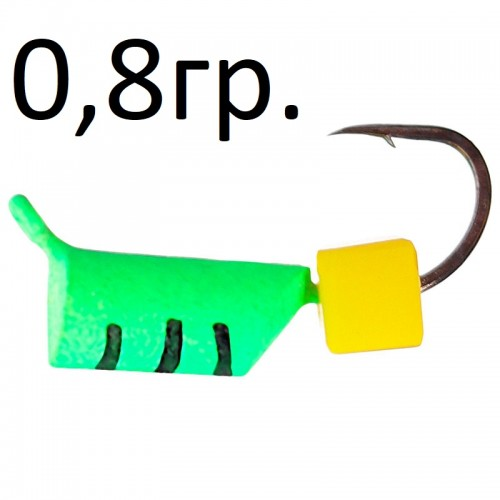 Столбик зелен. с сырным кубик